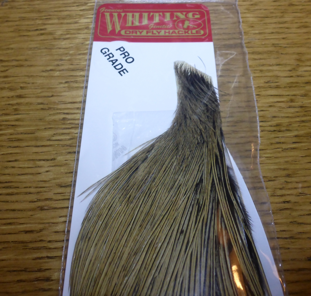 WHITING FARMS AUSTRALIA HALF CAPE WHITING PRO GRADE ROOSTER FLY TYING FEATHERS TROUTLORE