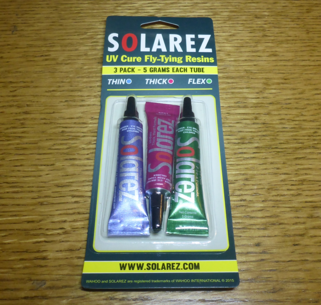 Solarez Fly Tie 3 Pack UV Resin