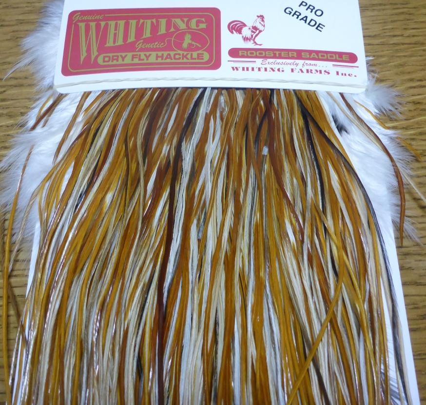 Whiting Dry Fly Saddle Pro Grade Honey Dun