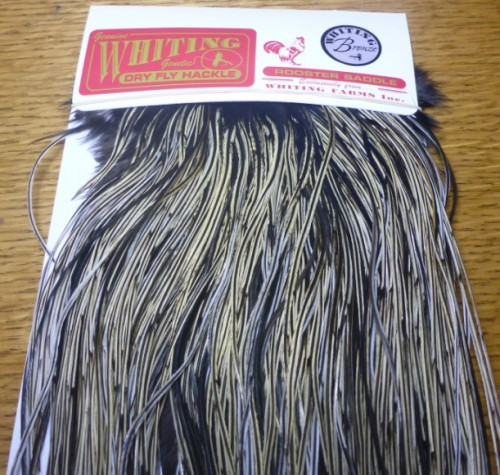 Fly Tying Whiting Bronze Rooster Midge Saddle Grizzly dyed  Dark Olive #A Angelsport-Fliegen-Bindematerialien Angelsport-Artikel