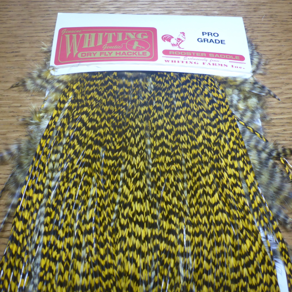 NEW Whiting Medium Dun Dyed Grizzly Dry Fly Sized Saddle Hackle Feathers