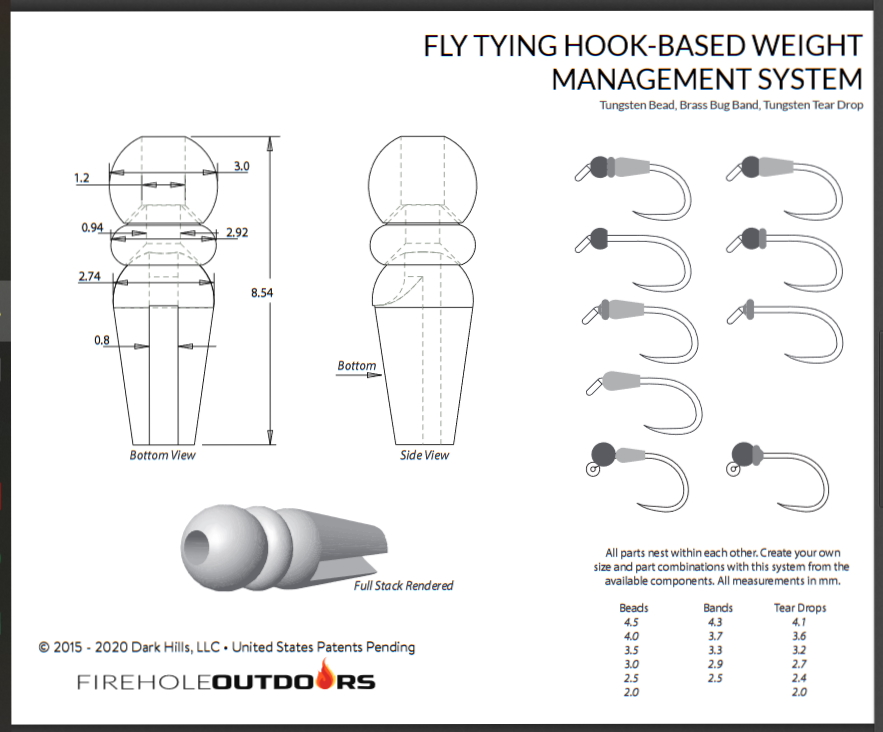 Firehole Outdoors Tear Drop Body-fly tying beads-Hook based Weight Management